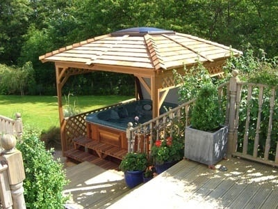 arctic spas hot tub in nice gazebo