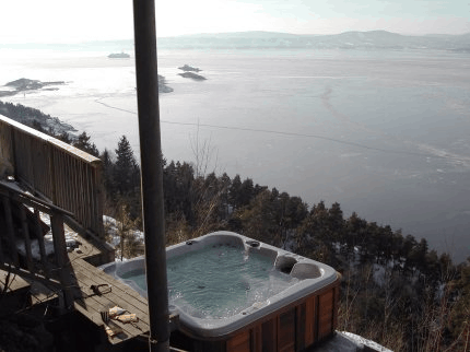 arctic spas hot tub way up high