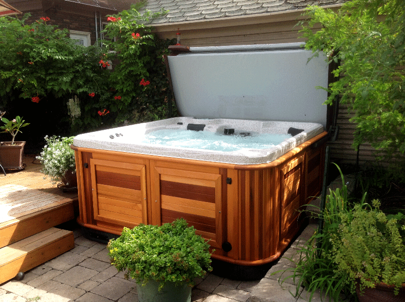 arctic spas hot tub on a patio