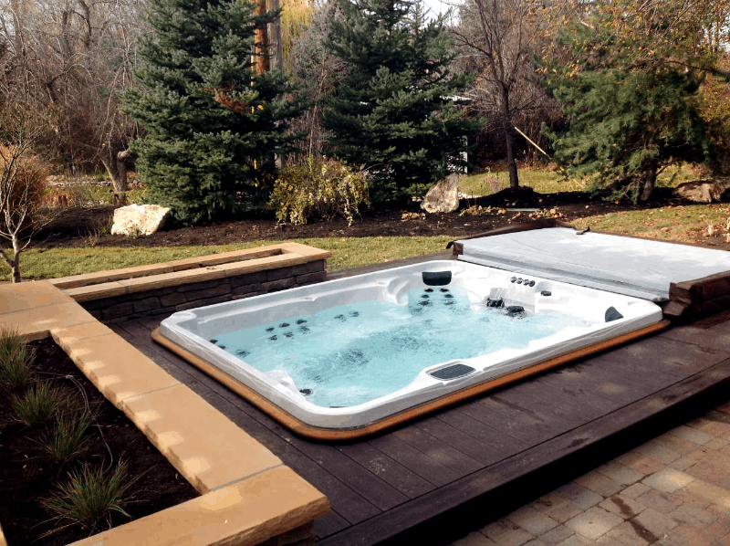 Arctic Spas Hot tub build in a deck